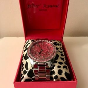Never worn!! Betsy Johnson watch